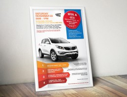KIA Competition Poster in Frame