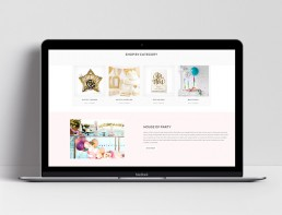 Website Design House of Party Product Home Scroll