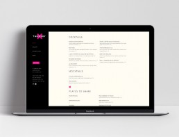 Website Design Thievery Restaurant Menu