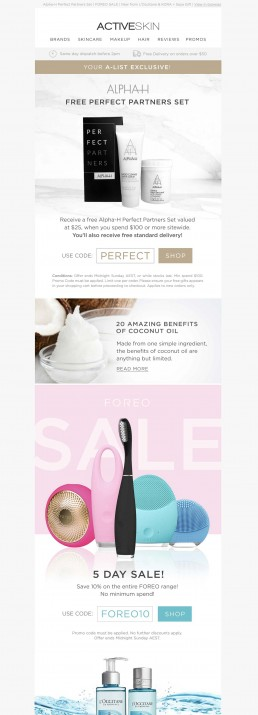 eCommerce Sales Email Design
