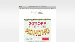 Email Design and Coding eCommerce Christmas