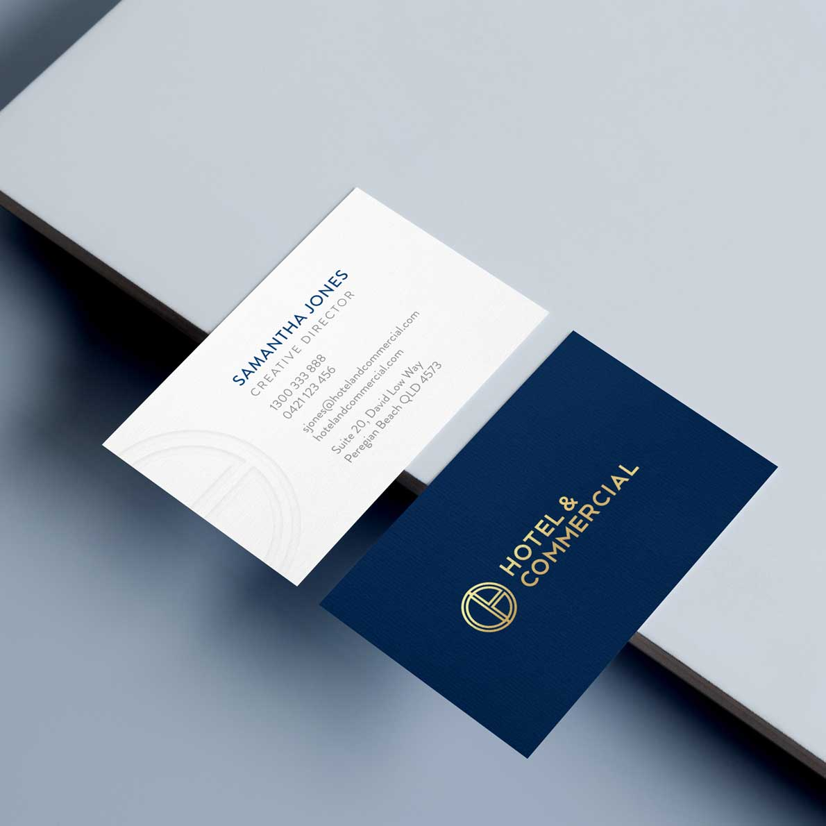 Hotel and Commercial business card design by Alphabetsy