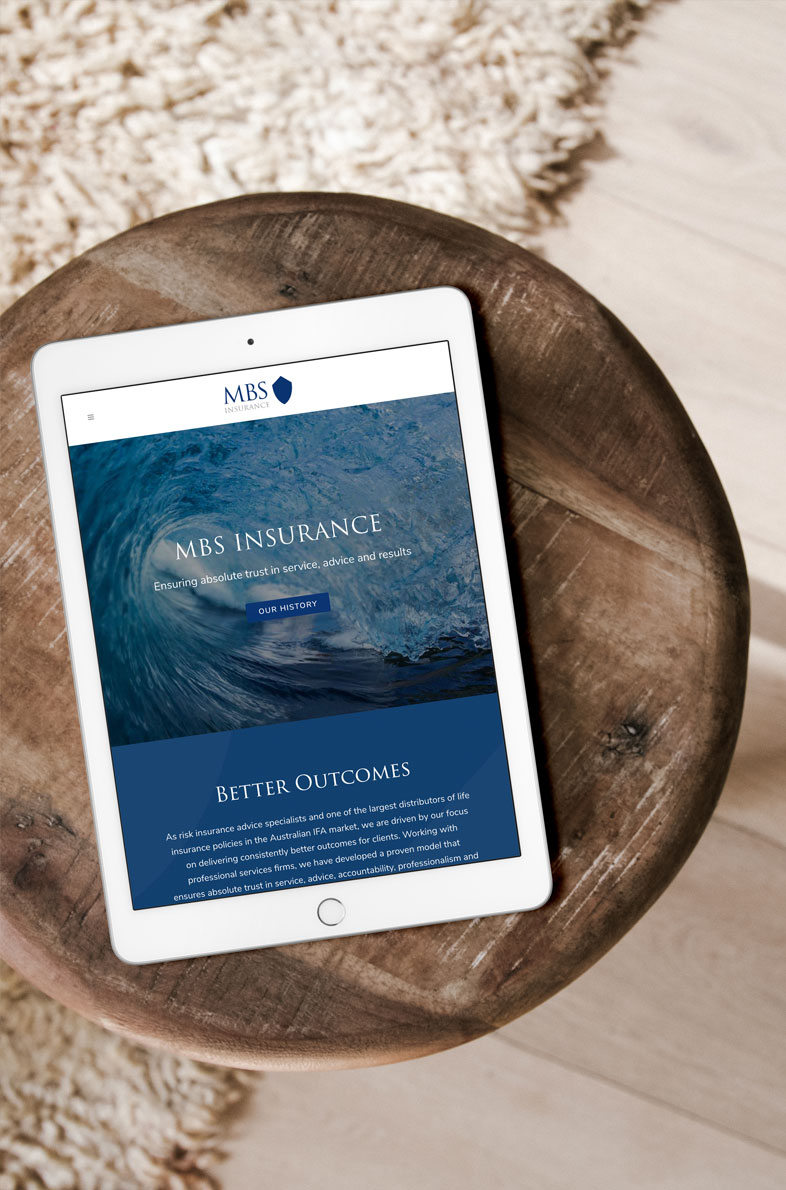 MBS Insurance website design by Alphabetsy