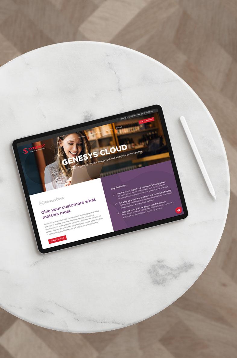 Synergy Enterprise Solutions website design by Alphabetsy